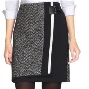 WHBM Faux Wrap Tweed Skirt